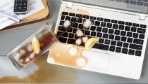 Чистка ноутбуков после попадания жидкости