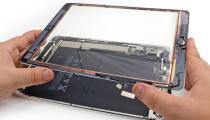 Замена сенсорного стекла планшета