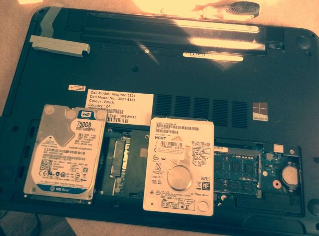 Слева старый , а справа новый жесткие диски