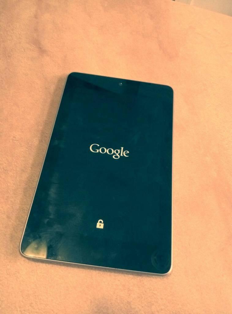 Планшет Google Nexus 7 завис на загрузке