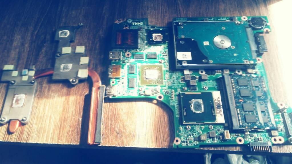 Чистка ноутбука Dell от пыли Одесса
