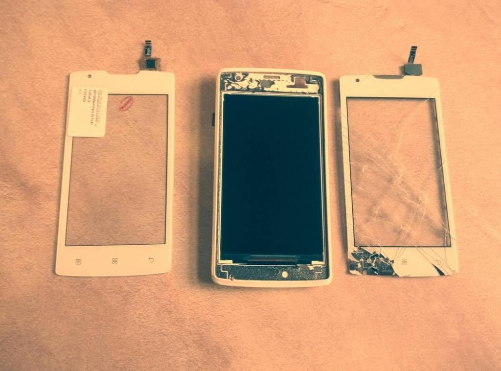Замена сенсорного стекла телефона в Одессе