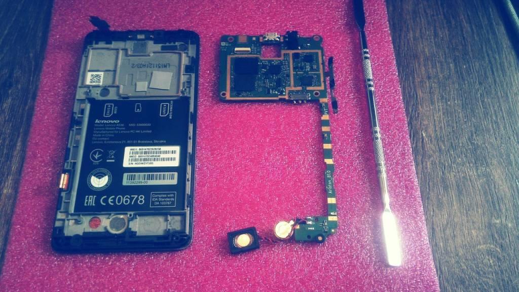 Замена разъема питания на телефоне Lenovo A536