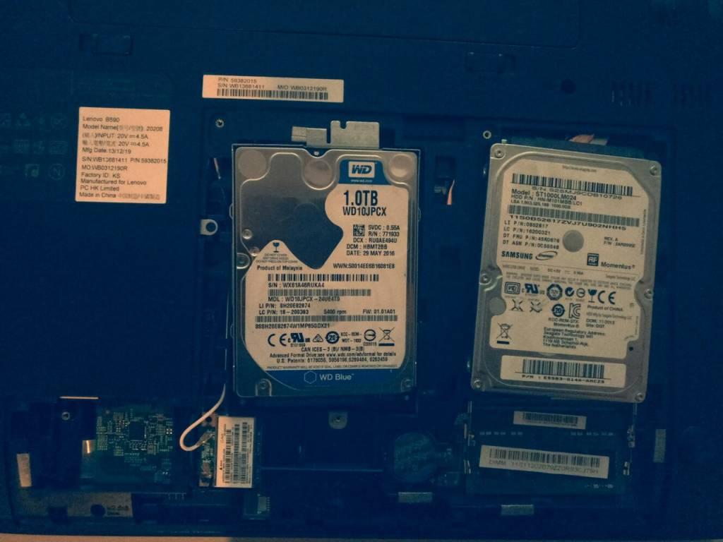 Замена жесткого диска ноутбука в Одессе